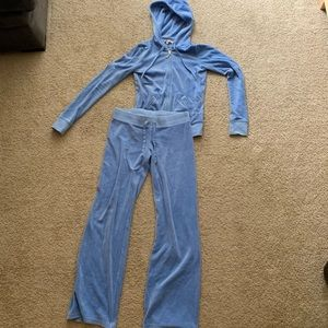 Juicy Couture Velour Track/Sweat Suit - Baby Blue